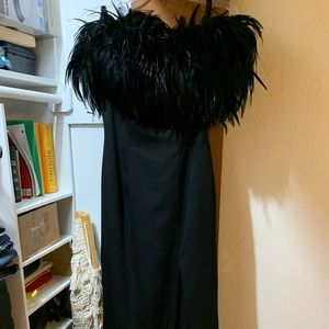Dave & Johnny size 7/8 black evening gown
